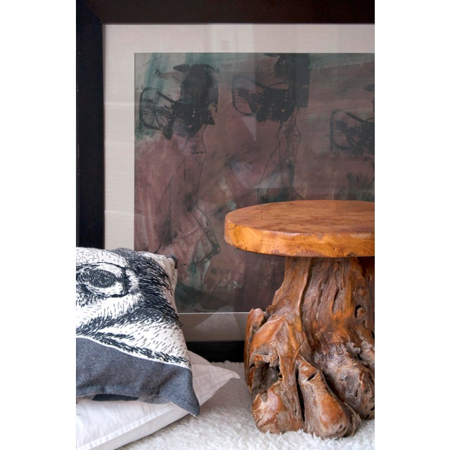 Indonesian Teak Root Stool For Sale In New York - Image 6 of 8