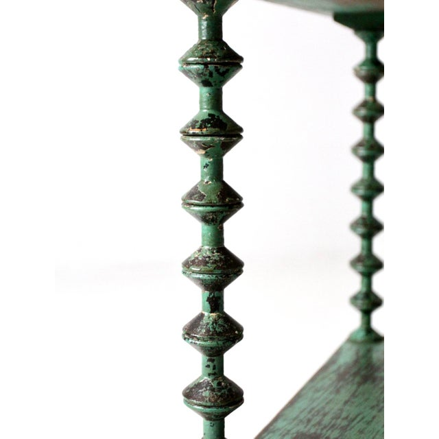 Antique Folk Art Spool Table For Sale - Image 4 of 9