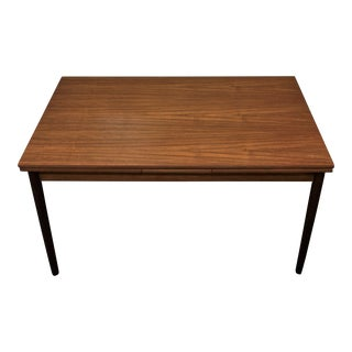 Danish Mid Century Modern Teak Dining Table W Hidden Leaves - Kodriverne For Sale