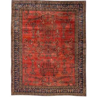 "Apadana - Antique Persian Farahan Red Rug, 15'8"" X 12'0"""