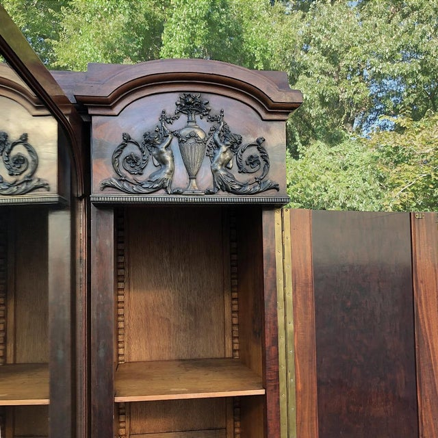 Antique French Neoclassical Mahogany Armoire For Sale - Image 11 of 13