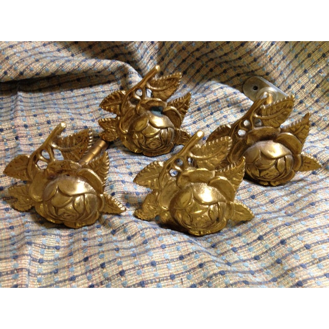 Brass Drapery Tie Backs - Set of 4 - Image 3 of 6