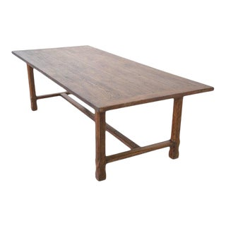 Petersen Antiques Farm Table in Reclaimed Heartwood For Sale