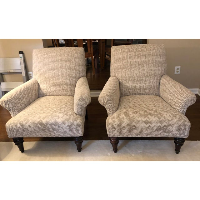 Textile Custom Sam Moore Accent Chairs- A Pair For Sale - Image 7 of 7