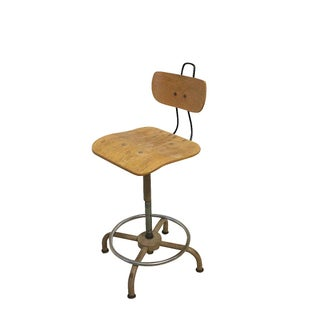 1930s Science Lab Chair, Vintage Office Seating For Sale