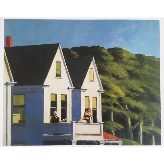 "Blue Edward Hopper Vintage 1999 Lithograph Calendar Print "" Second Story Sunlight "" 1960 For Sale - Image 8 of 9"