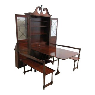 Antique Thomasville Ball Claw Secretary Desk Dyn Rite Hideaway Dining Room Set For Sale