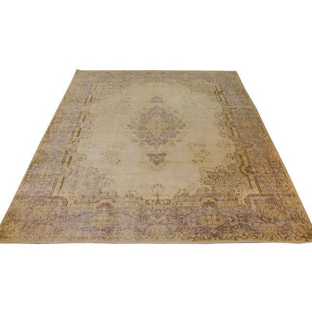Persian area rug handwoven from the finest sheep's wool. It's colored with all-natural vegetable dyes that are safe for...