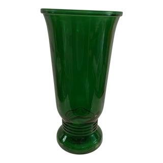 20th Century Art Deco Napco Depression Glass Vase For Sale