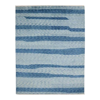 Contemporary Moroccan Style Rug with Hampton's Chic Coastal For Sale
