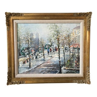 Lucien Delarue City Scene Painting For Sale