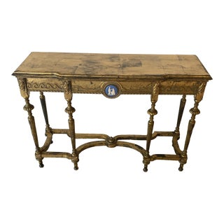 Vintage Gold Console Table For Sale