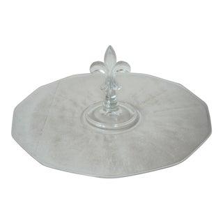 Cambridge Glass Fleur De Lis Serving Plate For Sale