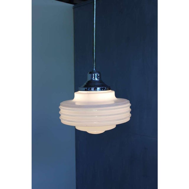 Frosted Glass Ceiling Fixture For Sale - Image 9 of 10