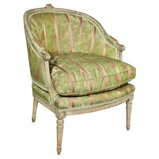 Louis XVI Painted Bergere For Sale