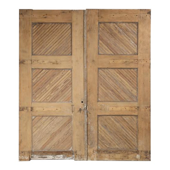 Antique 1890s American Garage or Barn Doors - a Pair For Sale