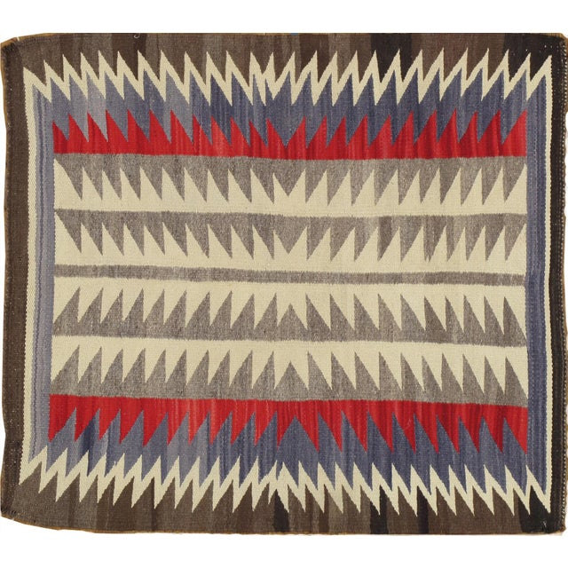 "Textile Vintage Navajo Rug, 2'8""x3' For Sale - Image 7 of 7"