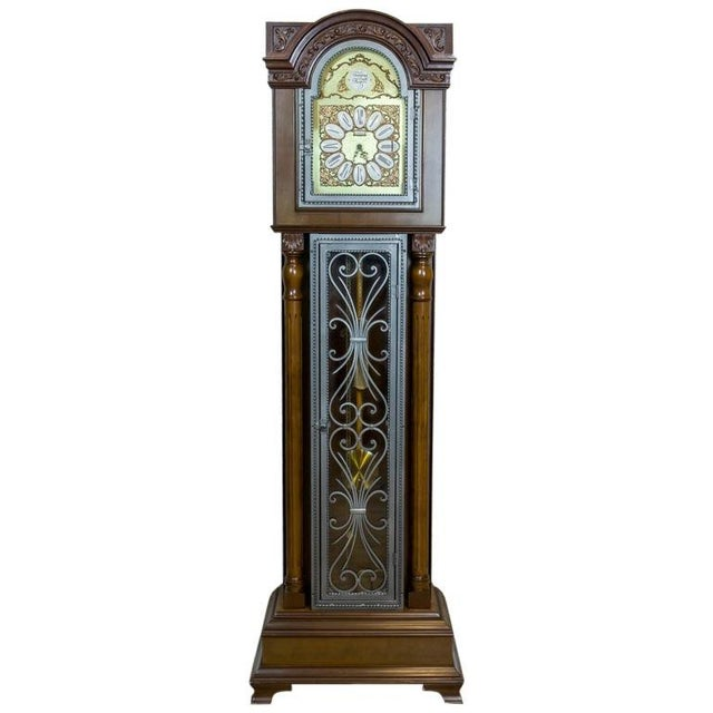 20th Century Tempus Fugit Grandfather Clock with a Chime For Sale - Image 13 of 13