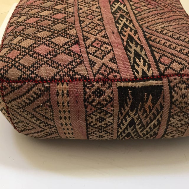 Vintage Moroccan Tribal Floor Pillow For Sale - Image 10 of 13