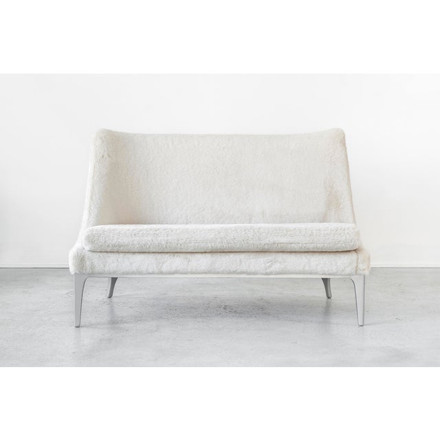 Faux Fur Settee by Lawrence Peabody - Image 2 of 10
