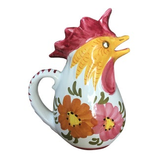 Vintage Italian Rooster Pitcher For Sale