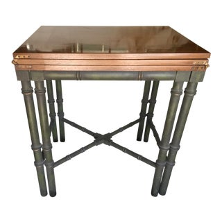 Faux Bamboo Drexel Et Cetera Server Console Table For Sale