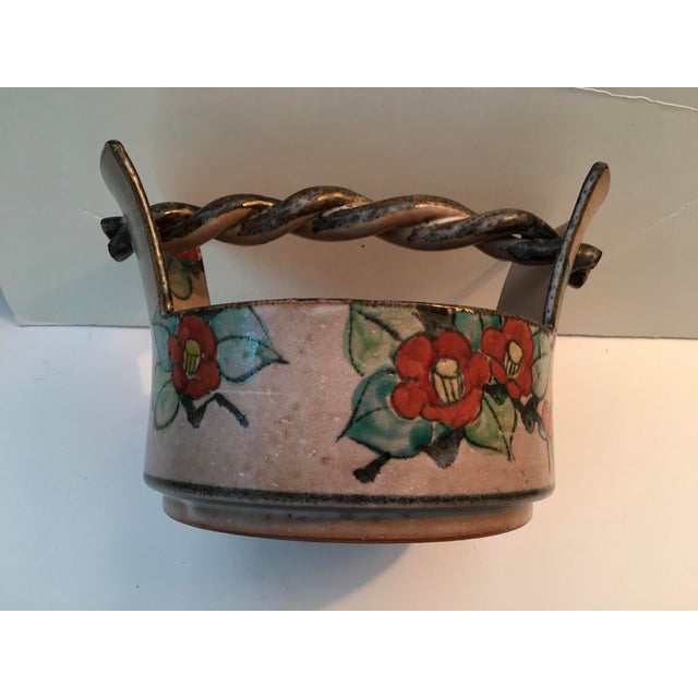 Japanese Art Deco Pottery Bowl For Sale - Image 9 of 9