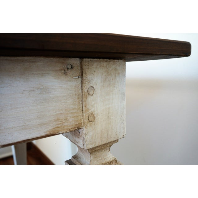 20th French painted dining farm table For Sale - Image 9 of 9
