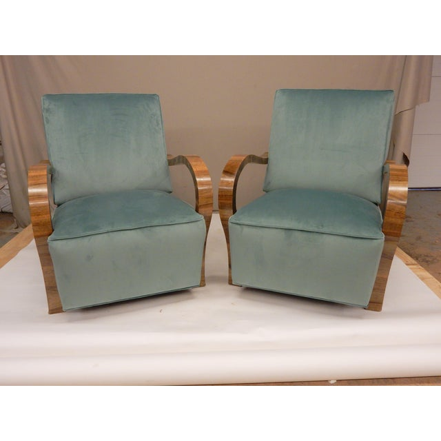 Pair of 1930's Upholstered Arm Chairs. For Sale In New Orleans - Image 6 of 7