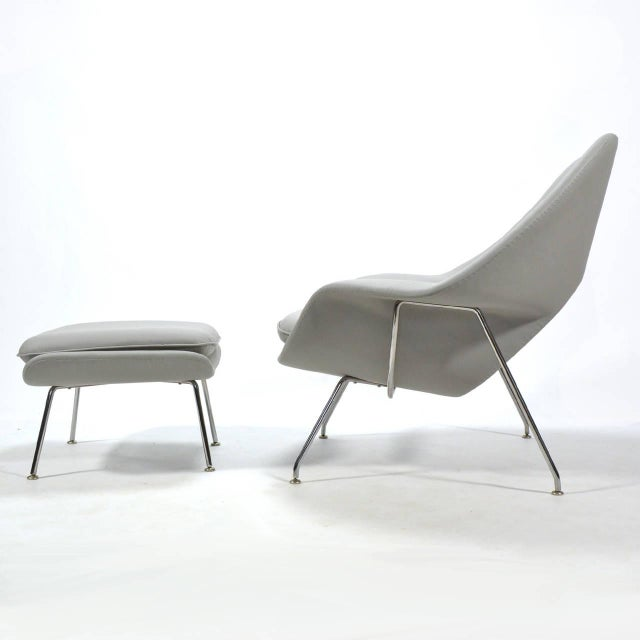 Eero Saarinen Womb Chair and Ottoman in Leather by Knoll - Image 8 of 11