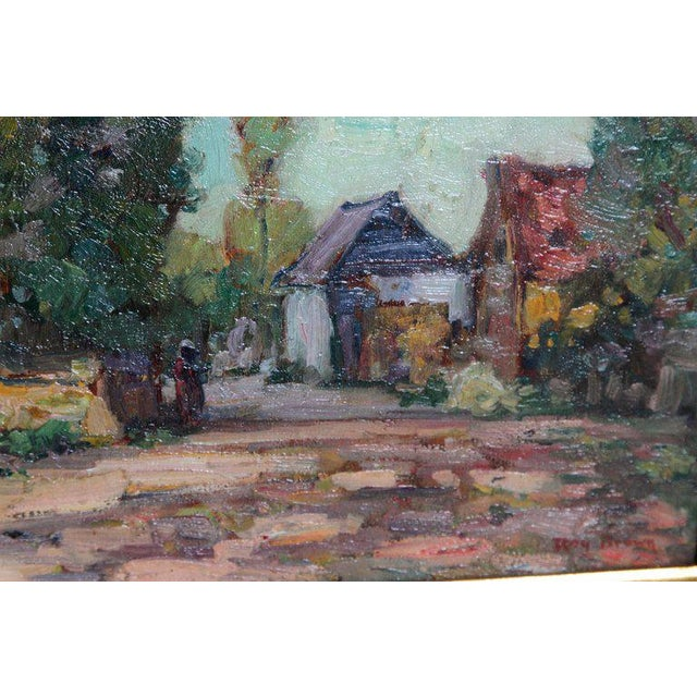 American Impressionistic Oil on Board by Roy Brown (American, 1879-1956) For Sale In Dallas - Image 6 of 13