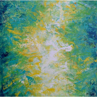 "Original Jennifer Hayes Abstract Painting ""Break in the Sky"" For Sale"
