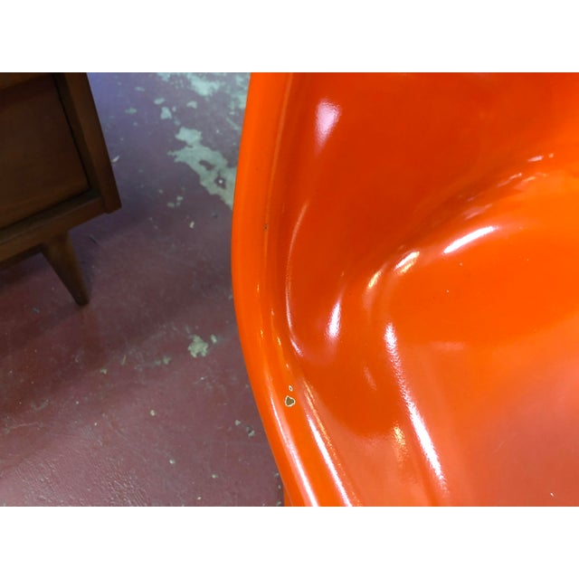Vintage Vitra for Herman Miller Mid-Century Modern Orange Verner Panton S Chairs - a Pair For Sale - Image 9 of 13