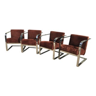 Ralph Lauren Metal Bouncer Club Chairs - Set of (2) For Sale