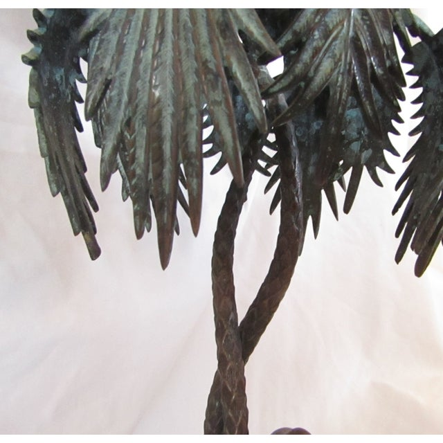 Camel & Palm Tree Pedestal Bowl For Sale In West Palm - Image 6 of 7