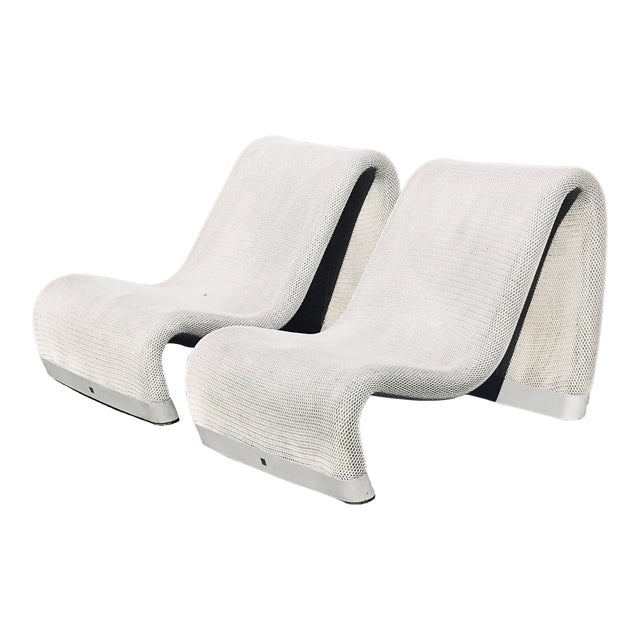 Sakura Narrow-Backed Armchairs- A Pair For Sale