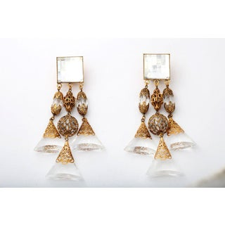 French Lucite Triple Dangle Earrings Preview