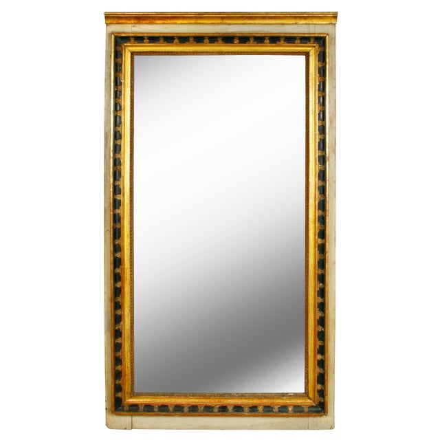 Italian Italian Painted and Parcel-Gilt Mirror For Sale - Image 3 of 3