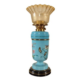 "English ""Bristol"" Kerosene Table Lamp"