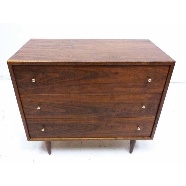 Walnut Three-Drawer Bachelor Dresser Chest - Image 2 of 10