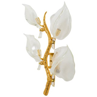 Venini Leaf Sconce For Sale