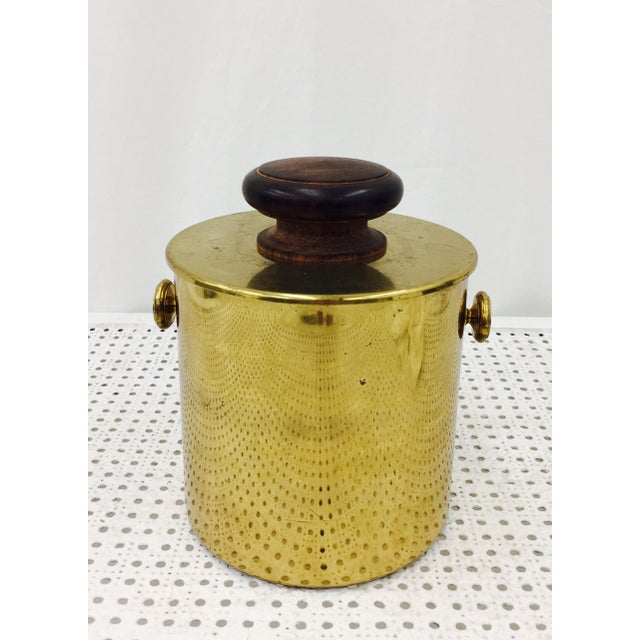 Vintage Italian Brass & Wood Ice Bucket - Image 4 of 5