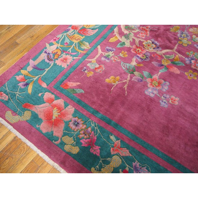Art Deco Antique Chinese Art Deco Rug For Sale - Image 3 of 6