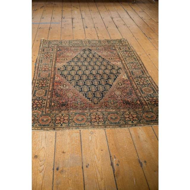 """Old New House Antique Farahan Sarouk Rug - 3'3"""" X 4'8"""" For Sale - Image 4 of 13"""
