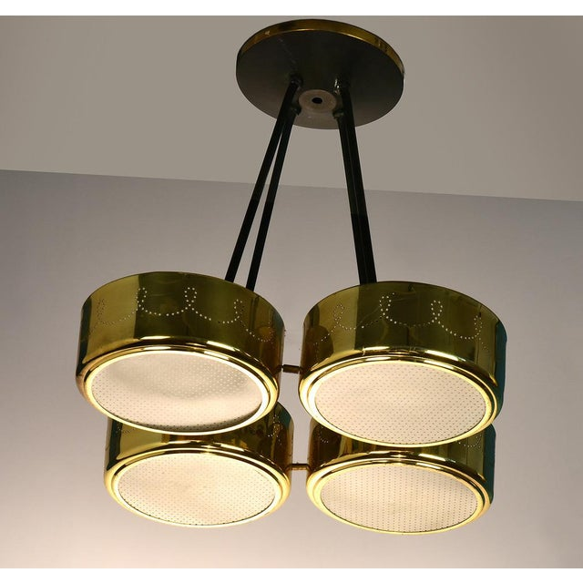 Gerald Thurston for Lightolier Four Shade Chandelier, Circa 1950's For Sale In Detroit - Image 6 of 9