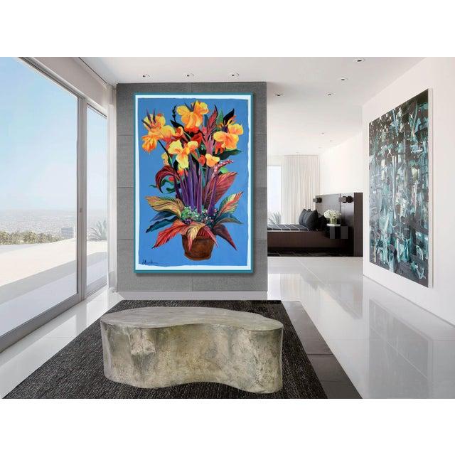 """Pot De Fleurs"" Calla and Canna Watercolor Painting - Image 5 of 8"