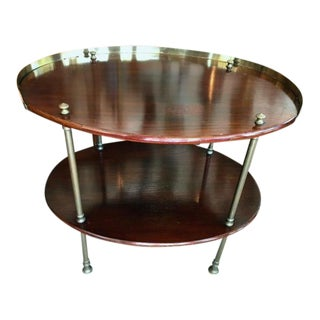 2 Tier Oval Side Table