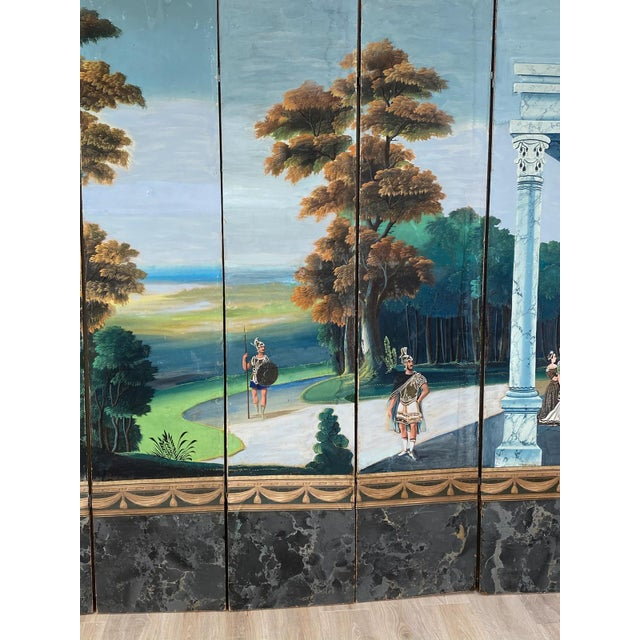 French Wallpaper Screen, France 19th Century For Sale - Image 3 of 7