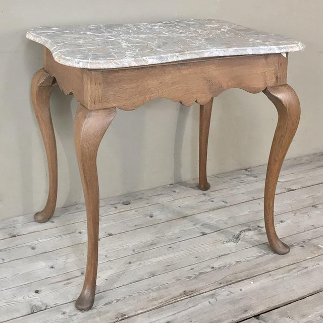 19th Century French Louis Philippe Walnut Marble Top Writing Table For Sale - Image 10 of 12