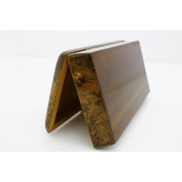 Aldo Tura Rare Goatskin Cigar Box by Aldo Tura, Italy, 1960s For Sale - Image 4 of 7